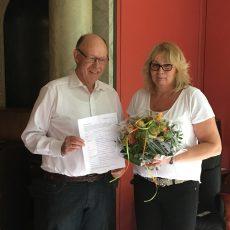 Heidi Rompf ist 500. Vereinsmitglied